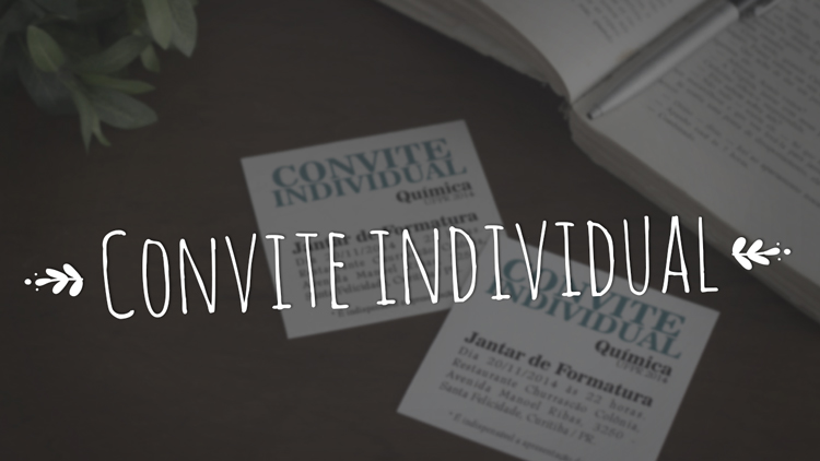Vídeo: Convite individual