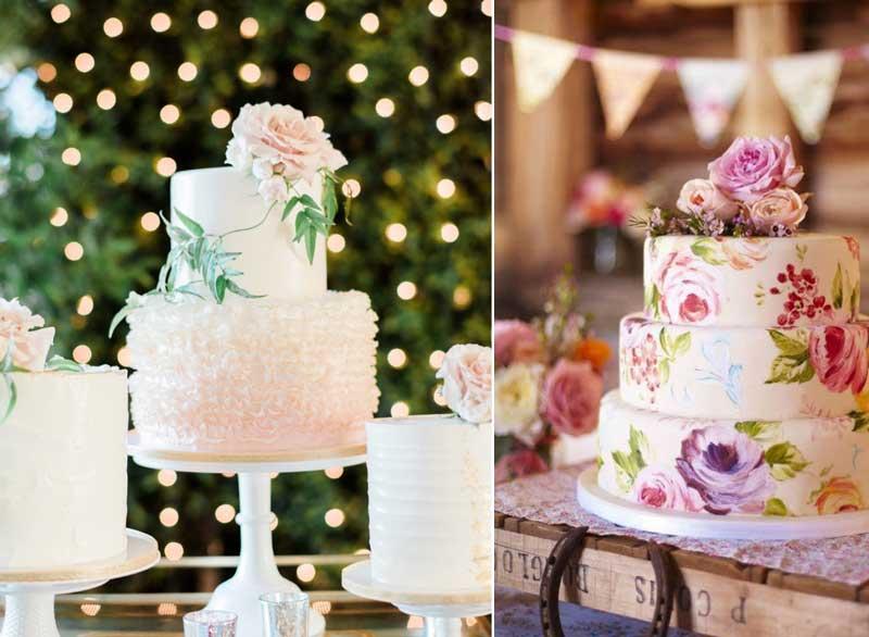 casamento vintage - bolos de casamento