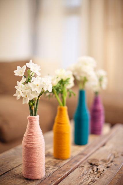 Chá de cozinha: Decoração com lã