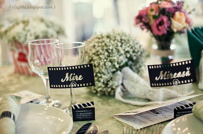 Decoração de casamento: Tema Cinema