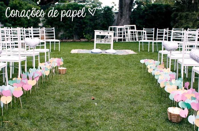 9 maneiras simples para decorar a cerimônia de casamento
