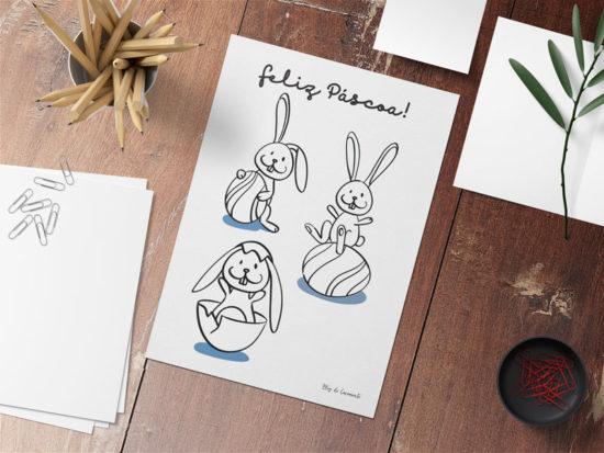 Coelhinhos para páscoa para colorir – Download free!