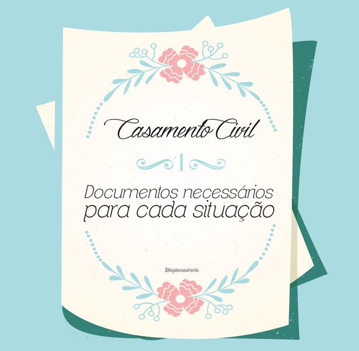 documentação para casamento civil