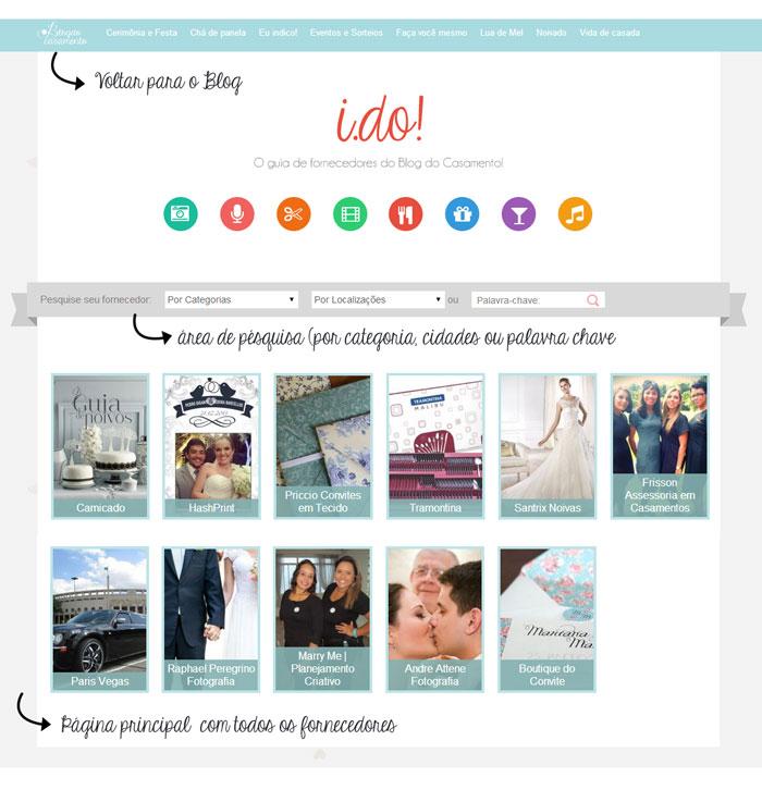 I do! O guia de fornecedores do Blog do Casamento