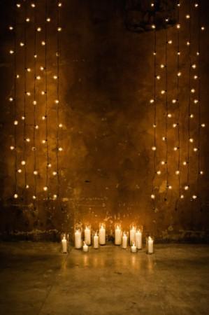 decoração de casamento com lampadas