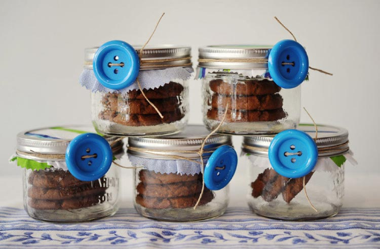 lembrancinhas de maternidade - cookies no potinho