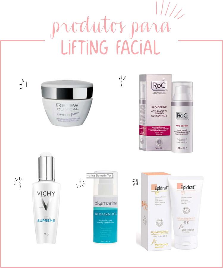 cosméticos para lifting facial