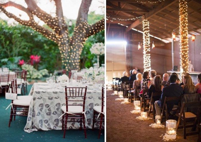 lampadas para iluminação de casamento
