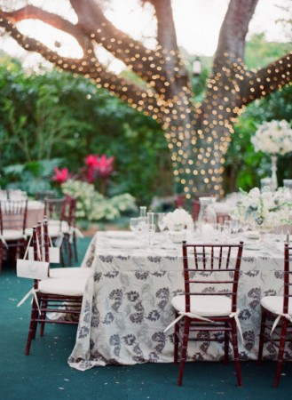 decoração de casamento com luzes de natal