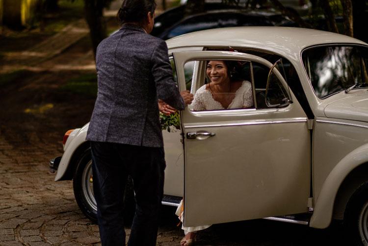 fusca no casamento