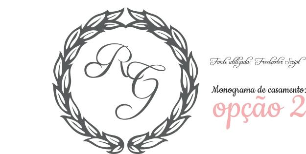 Monograma gratuito para convite de casamento