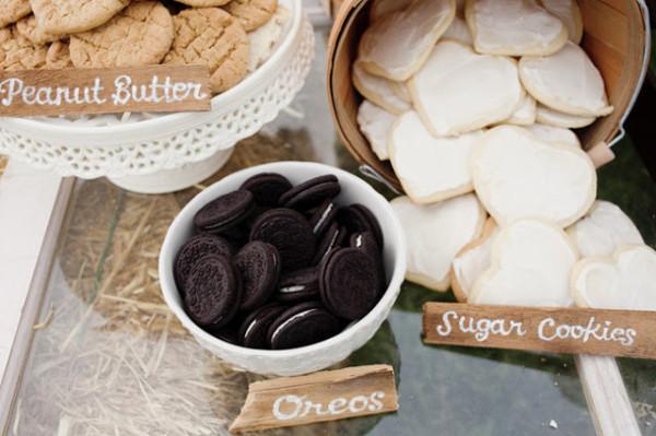 cardápio de noivado : cookies com leite