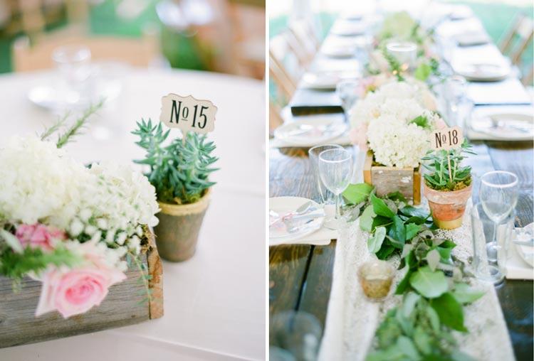 numerar a mesa dos convidados com plaquinhas