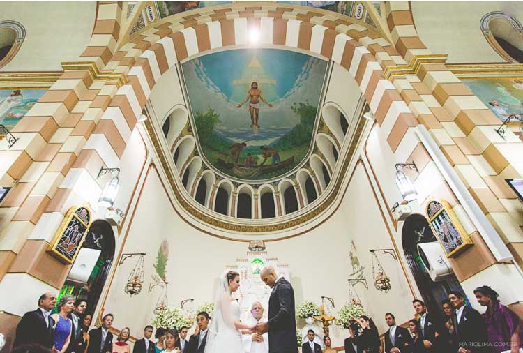 Casamento na Paróquia Nossa Senhora Aparecida - Moema