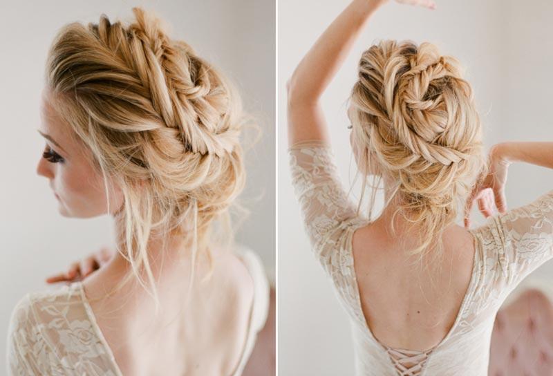 Penteado de noiva: Inspiração tranças