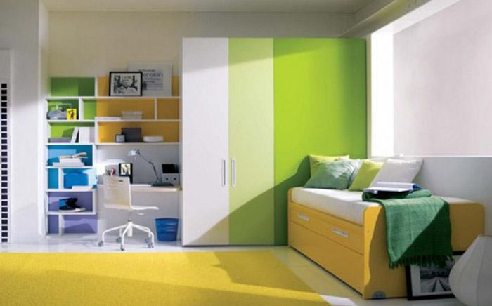 Gradiente nos móveis e paredes