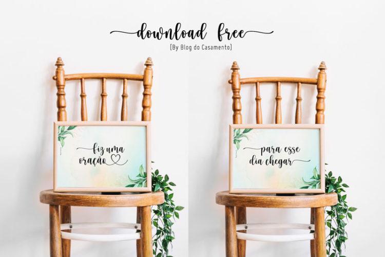 download de plaquinha para cadeira dos noivos