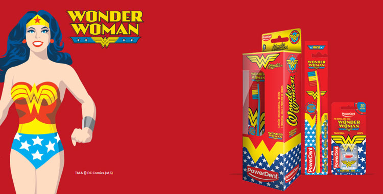 Kit de higiene bucal Wonder Woman