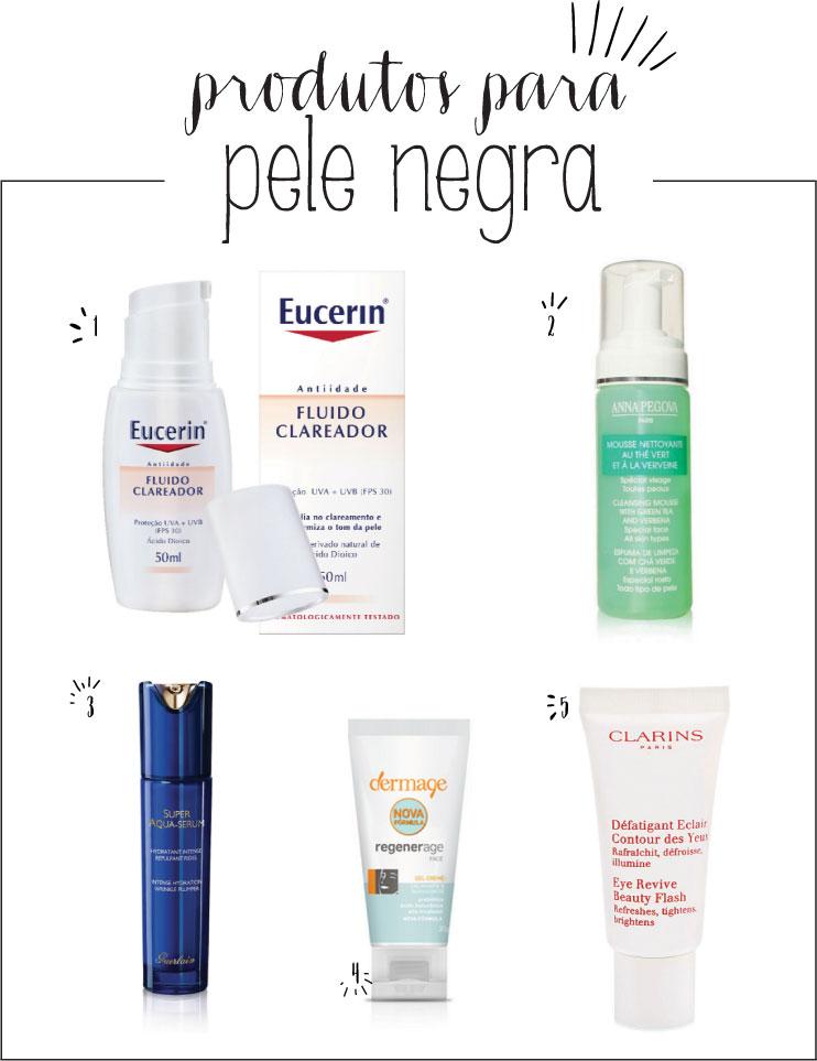 produtos para pele negra