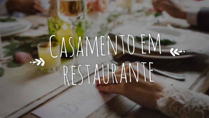 Casamento em restaurante