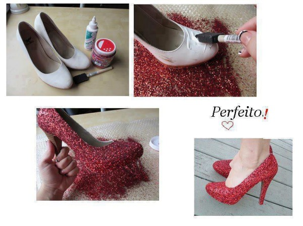 customizando o sapato de festa