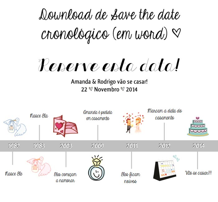 Download Save the date cronológico