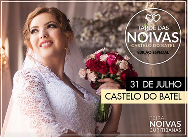 Tarde das Noivas acontece no dia 31 de julho, das 14h às 22h, no Castelo do Batel em Curitiba