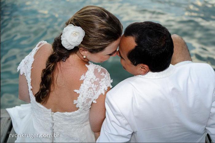 Vestidos de noiva  com mangas rendadas