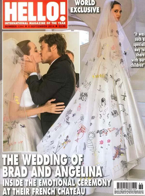 O vestido de noiva de Angelina Jolie